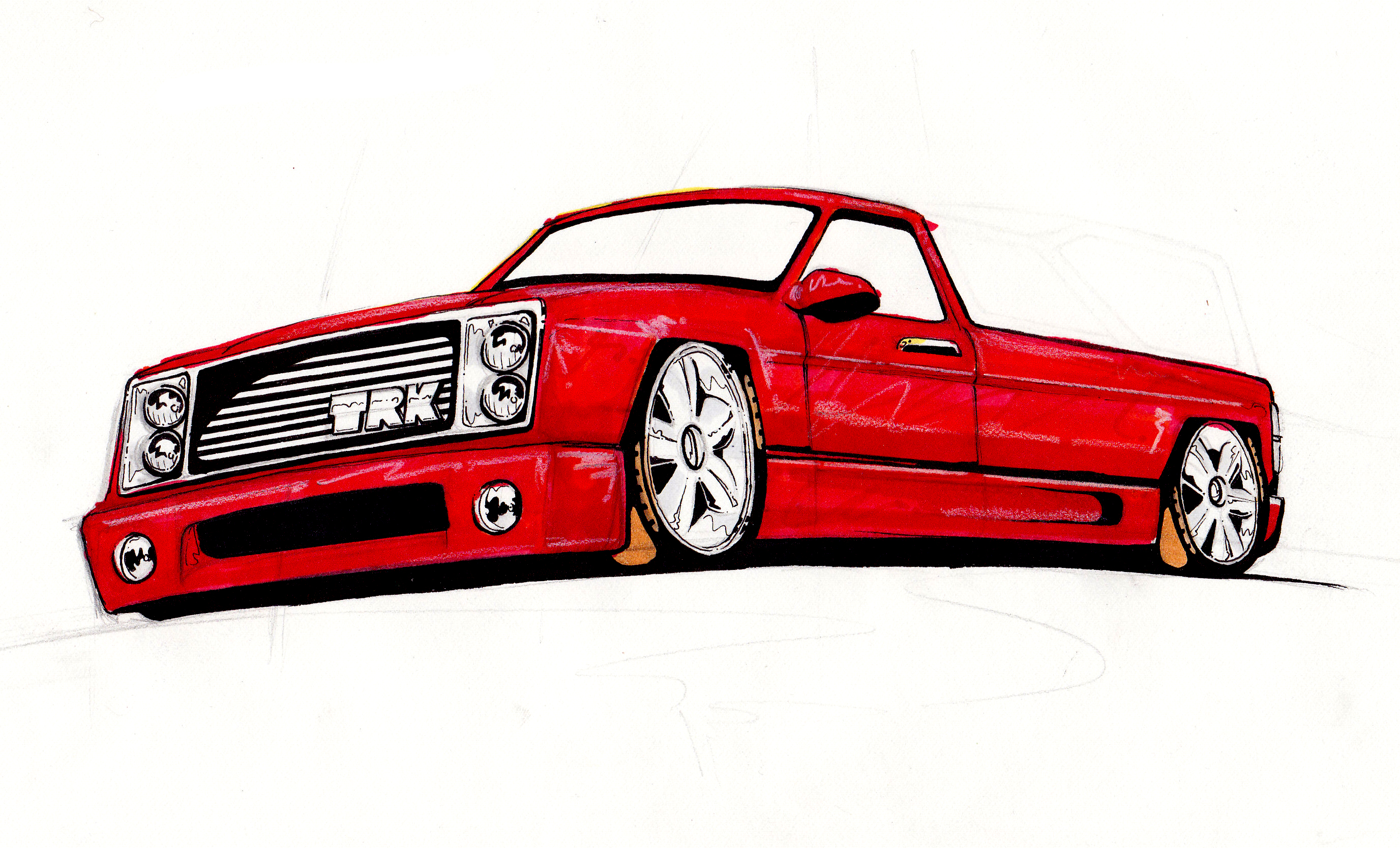 Image search  Lowrider TrucksLowrider Chevy Truck Drawings